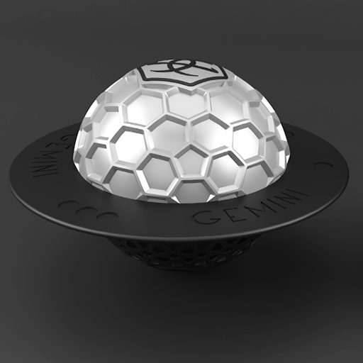 Gemini Hookah Silver Bowl