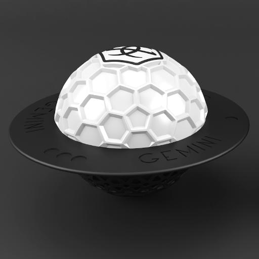 Gemini Hookah White Bowl