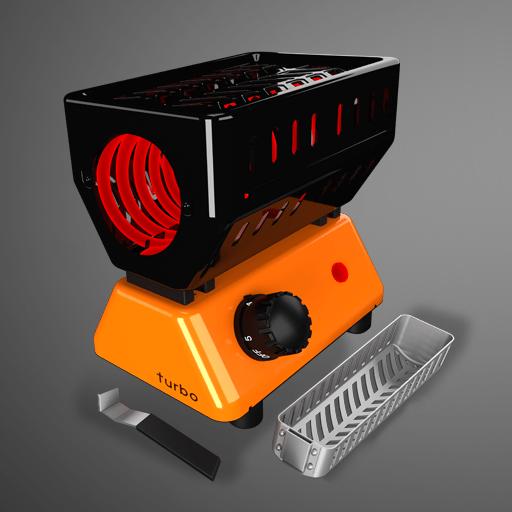 Gemini 220V Turbo Charcoal Heater