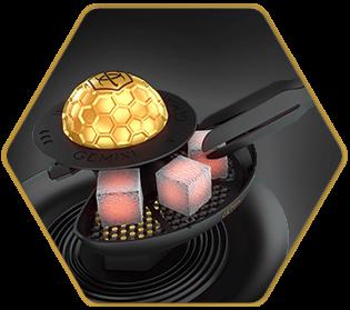 Gemini Gold Hookah Bowl