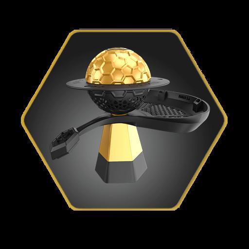 Gemini Hookah Bowl Gold Basic Package