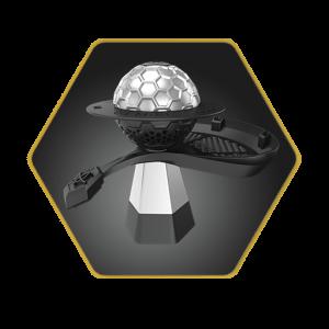 Gemini Hookah Bowl Silver Basic Package